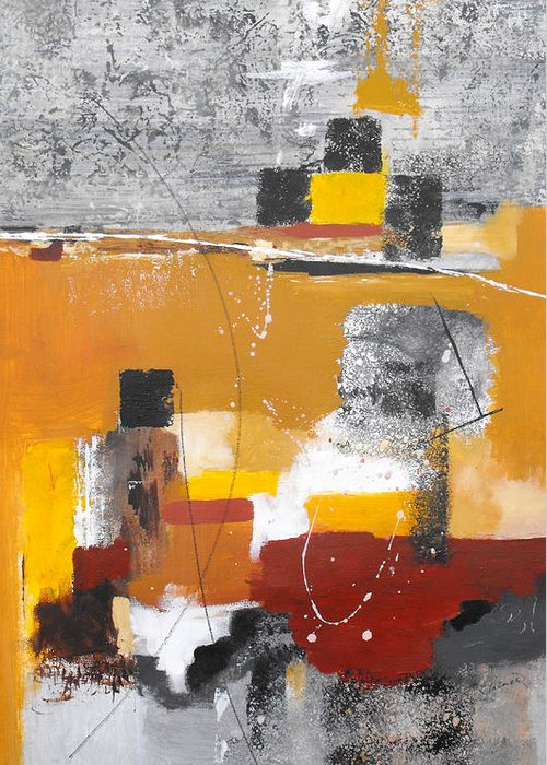 Abstract Greeting Card featuring the painting Special Circumstances II by Ruth Palmer