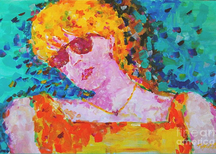 Portraiture Greeting Card featuring the painting Special Day by Art Mantia