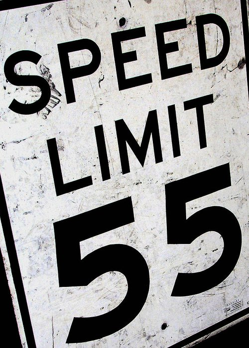 Car Greeting Card featuring the photograph Speed Limit by Audrey Venute