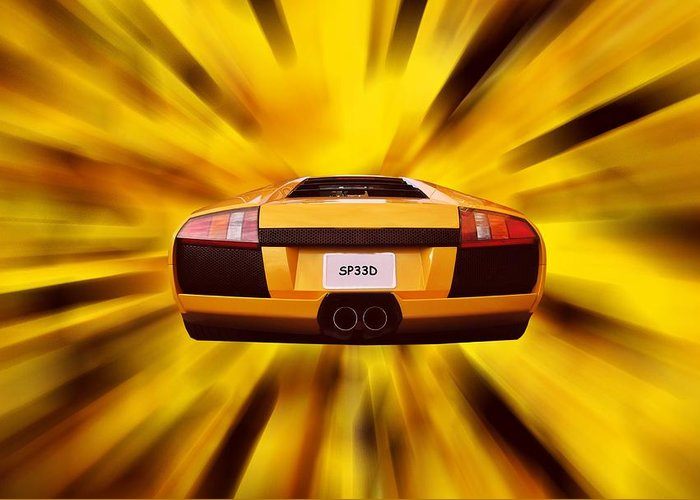 Lamborghini Greeting Card featuring the photograph Speed by Sharon Lisa Clarke
