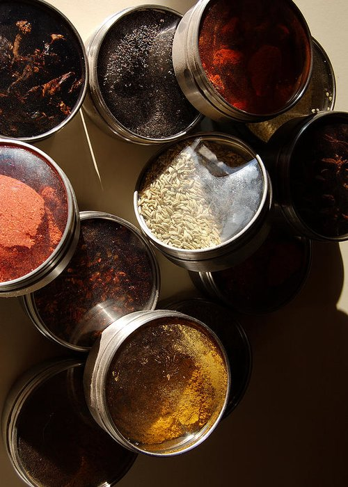 Photography Greeting Card featuring the photograph Spices by Heather S Huston