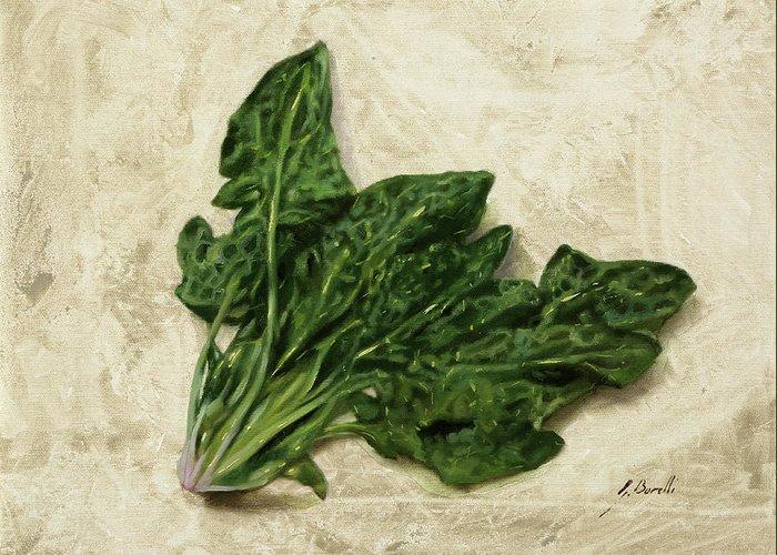 Spinach Greeting Cards