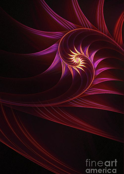Fractal Greeting Card featuring the digital art Spira Mirabilis by John Edwards