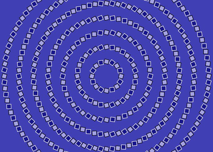 Optical Illusion Greeting Card featuring the digital art Spiral Circles by Michael Tompsett