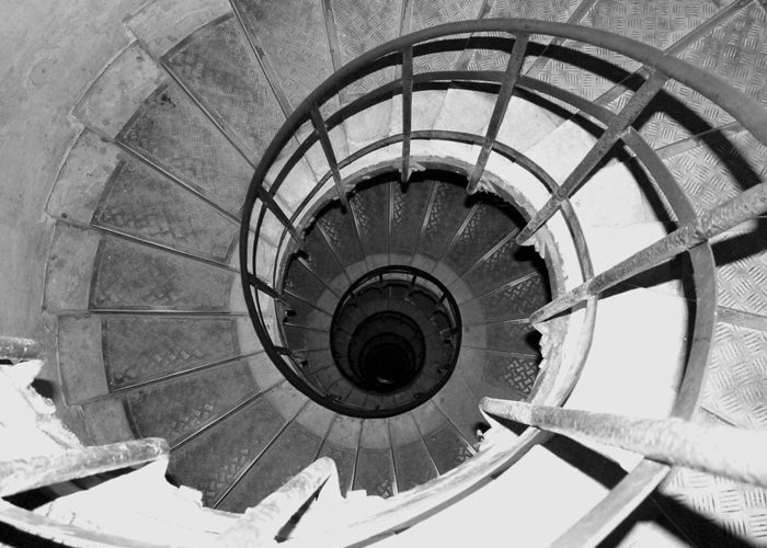Spiral Staircase Greeting Card featuring the photograph Spiral Staircase At The Arc by Donna Corless