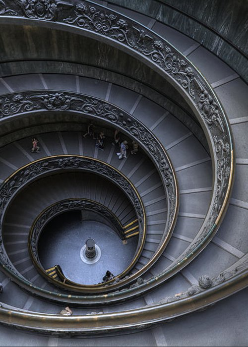 Spiral Staircase Greeting Card featuring the photograph Spiral Staircase by Maico Presente