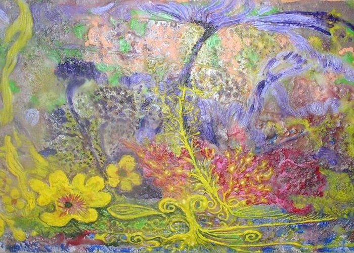 Greeting Card featuring the painting Spirit Garden by Heather Hennick