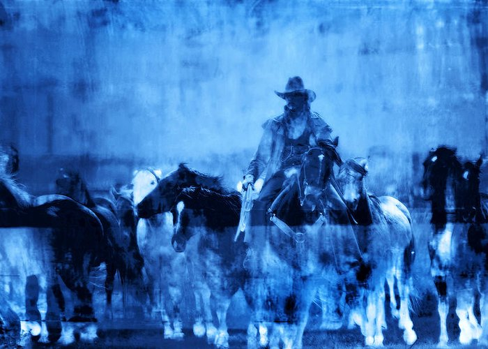 Fine Art Greeting Card featuring the photograph Spirit Herd by Nick Sokoloff