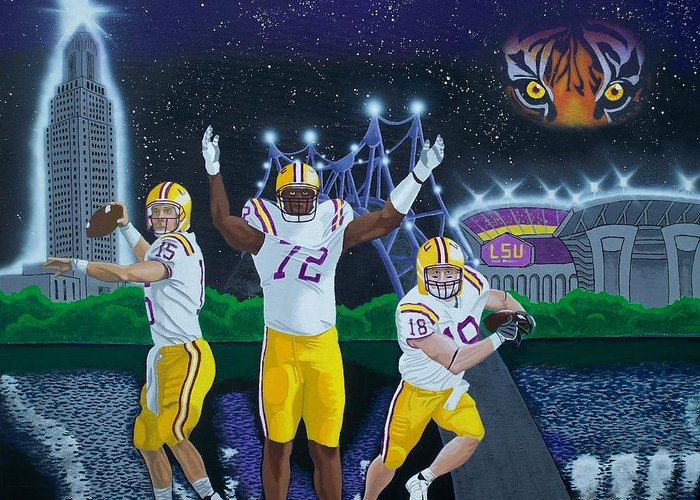 Baton Rouge Greeting Card featuring the painting Spirit Of Baton Rouge by Hershel Kysar