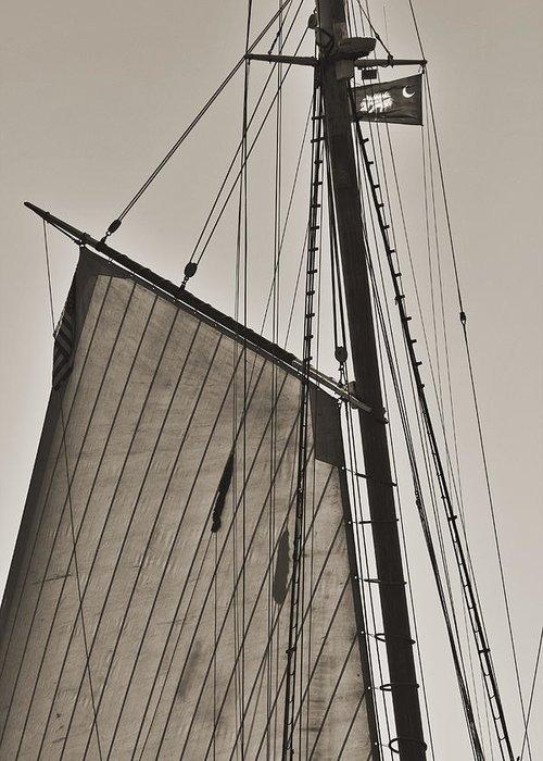 Spirit Of South Carolina Greeting Card featuring the photograph Spirit Of South Carolina Schooner Sailboat Sail by Dustin K Ryan