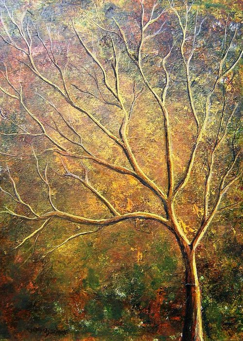 Greeting Card featuring the painting Spirit Tree 5 by Tami Booher