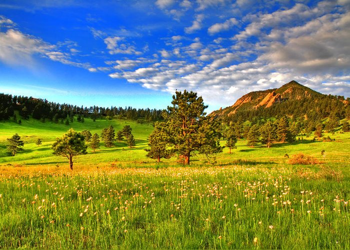 Colorado Greeting Card featuring the photograph Spiritual Sky by Scott Mahon