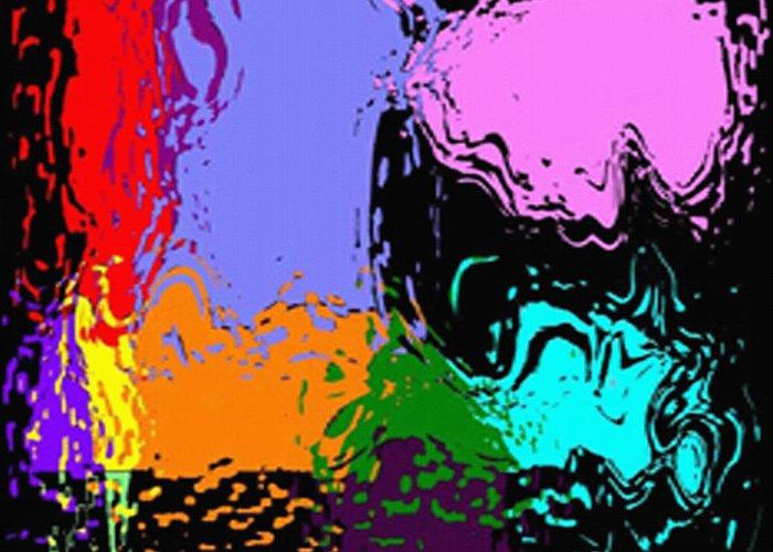 Splash Of Colors Greeting Card featuring the digital art Splash Of Colors by Andrea N Hernandez
