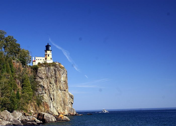 Split Rock Lighthouse Greeting Card featuring the photograph Split Rock 1 by Marty Koch