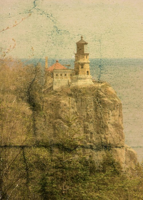 Tingy Greeting Card featuring the photograph Split Rock by Tingy Wende