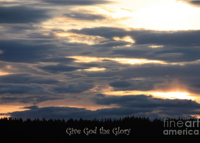 Spokane Greeting Card featuring the photograph Spokane Sunset - Give God The Glory by Carol Groenen