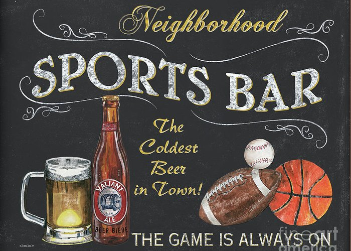 Sports Bar Greeting Cards