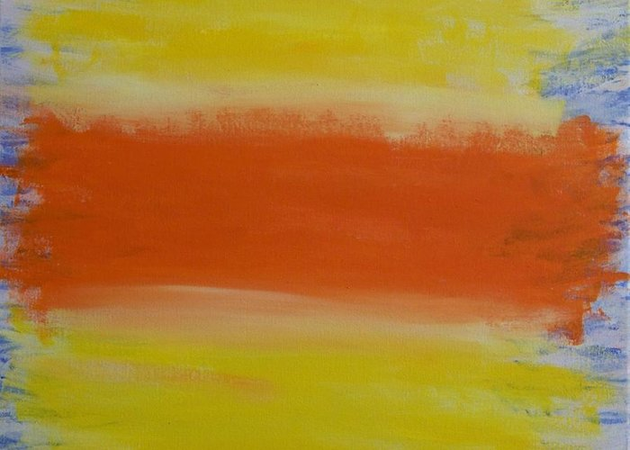 Abstract Greeting Card featuring the painting Spp3 Some Days Are Better Than Others by Rod Schneider