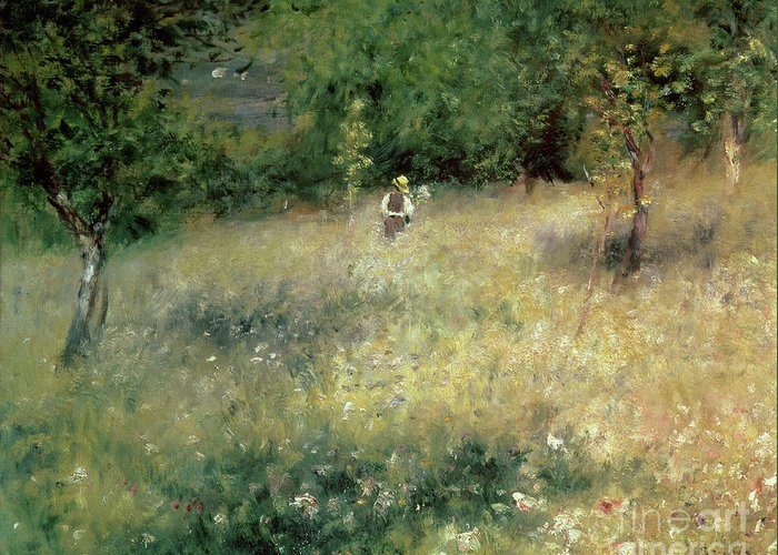 Renoir Greeting Card featuring the painting Spring At Chatou by Pierre Auguste Renoir
