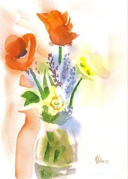 Spring Bouquet Ii Greeting Card featuring the painting Spring Bouquet II by Kip DeVore