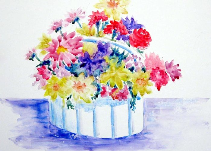 Flowers Greeting Card featuring the painting Spring Bouquet by Marsha Elliott