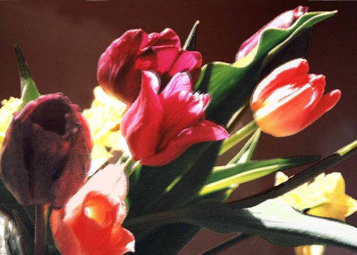 Floral Still Life Greeting Card featuring the photograph Spring Bouquet by Steve Karol