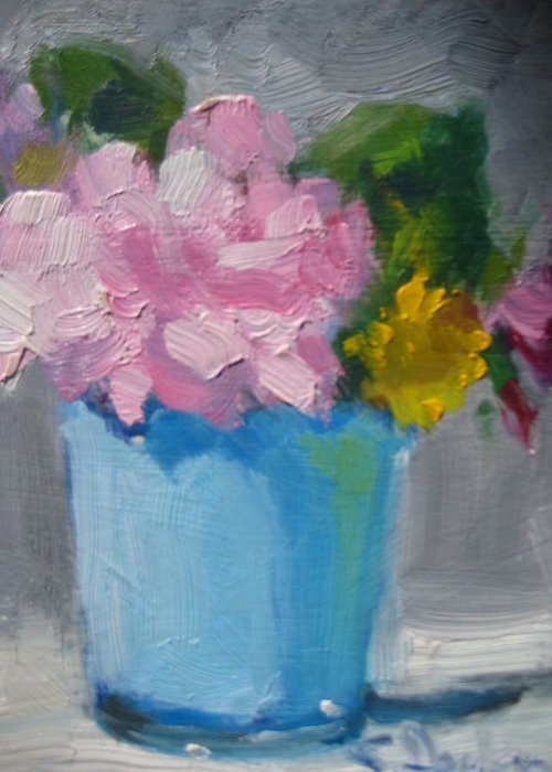 Floral Greeting Card featuring the painting Spring Bouquet by Susan Jenkins