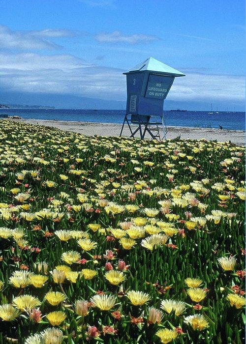 Beach Greeting Card featuring the photograph Spring Break Santa Barbara by Kathy Yates