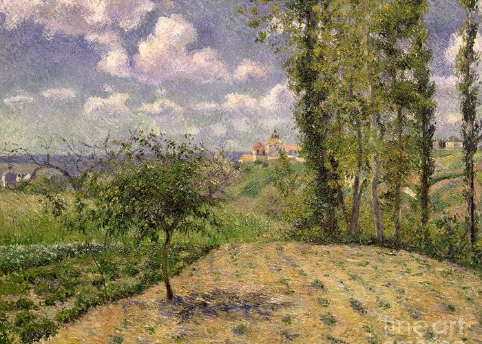 Camille Greeting Card featuring the painting Spring by Camille Pissarro