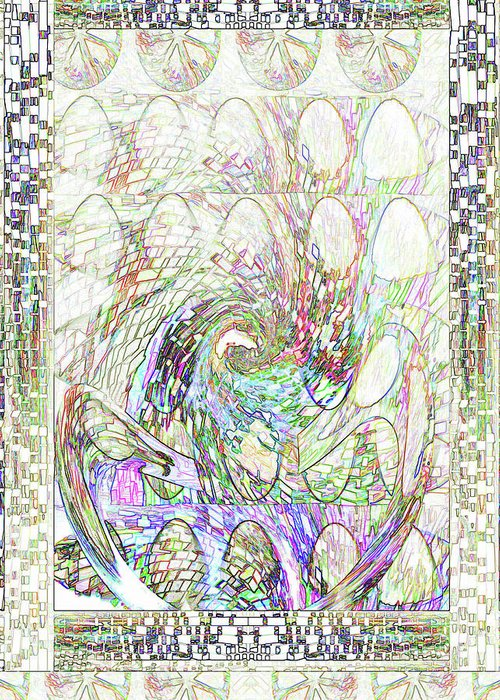 Easter Greeting Card featuring the digital art Spring Dozens by Beverly Kimble Davis