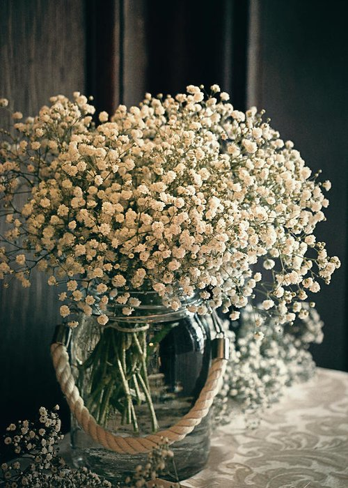 White Greeting Card featuring the photograph Spring Flower Arrangement by Maria Angelica Maira