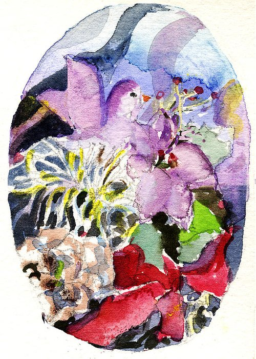 Spring Greeting Card featuring the painting Spring by Mindy Newman