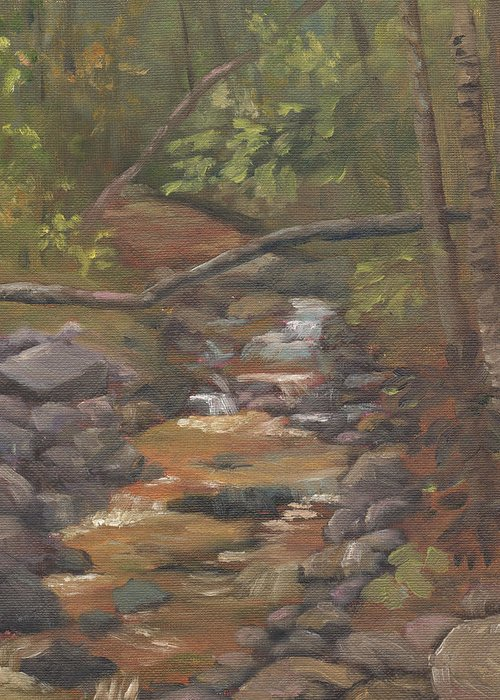 Waterfall Greeting Card featuring the painting Spring on the Gale River by Sharon E Allen