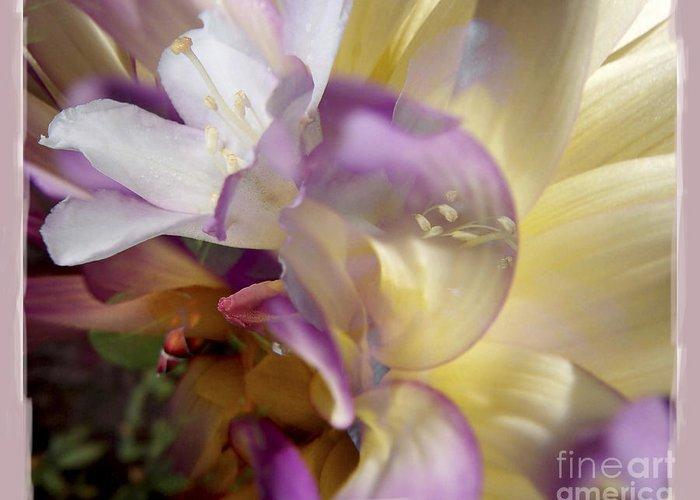Flower Greeting Card featuring the digital art Spring Overture by Chuck Brittenham