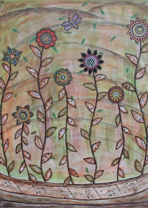 Folk Art Paintings Greeting Card featuring the painting Spring Splendor by Rain Ririn