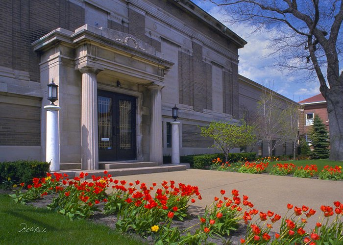 Photography Greeting Card featuring the photograph Spring Time At The Muskegon Museum Of Art by Frederic A Reinecke