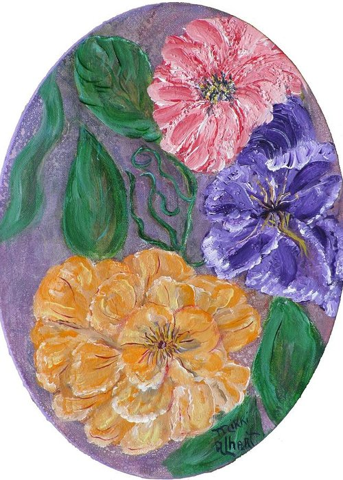 Floral Greeting Card featuring the painting Spring Time by Mikki Alhart