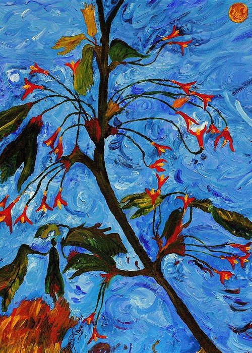 Flowers Greeting Card featuring the painting Spring Tree by Gregory Allen Page