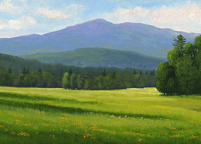 Landscape Greeting Card featuring the painting Spring Vista by Frank Wilson