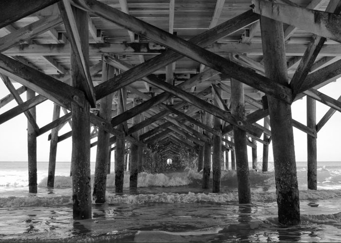 Springmaid Pier Greeting Card featuring the photograph Springmaid Pier In Myrtle Beach South Carolina by Stephanie McDowell