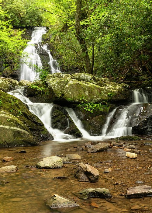 River Greeting Card featuring the photograph Spruce Flats Falls 2 B by John Brueske