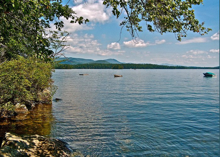 Squam Lake In New Hampshire Greeting Card featuring the photograph Squam Lake In New Hampshire  by Ruth Hager