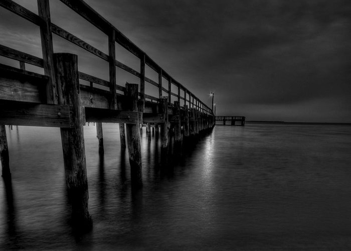 Hdr Greeting Card featuring the photograph Square Pier by E R Smith
