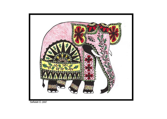 Sri lankan elephant greeting card for sale by tallulah p sri lankan elephant greeting card featuring the drawing sri lankan elephant by tallulah p m4hsunfo