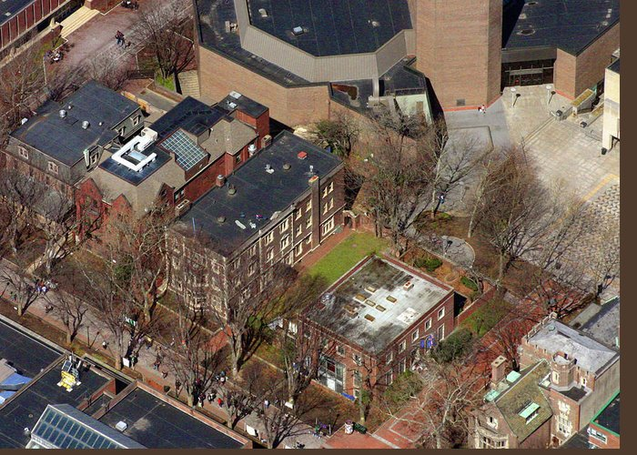 St. A's Greeting Card featuring the photograph St Anthony Hall And St Elmo Fraternity Houses University Of Pennsylvania by Duncan Pearson