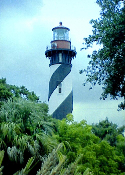 St Augustine Lighthouse Artwork Greeting Card featuring the photograph St Augustine Lighthouse by Frederic Kohli