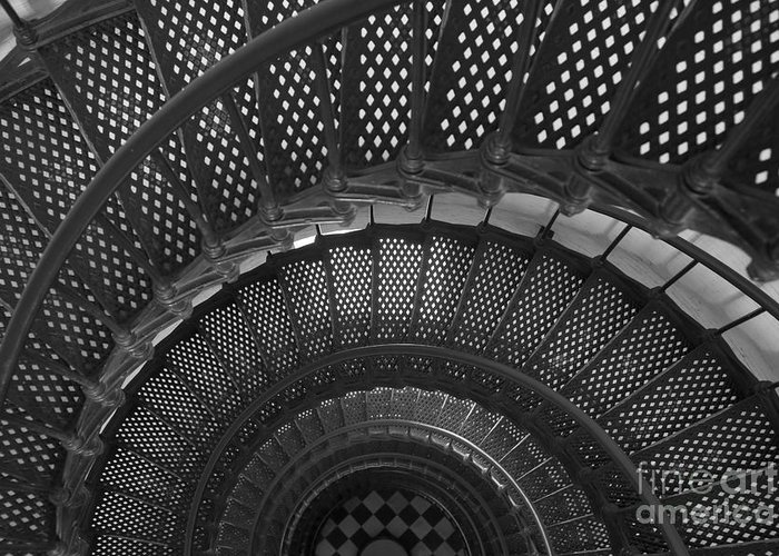 Clarence Holmes Greeting Card featuring the photograph St. Augustine Lighthouse Spiral Staircase I by Clarence Holmes