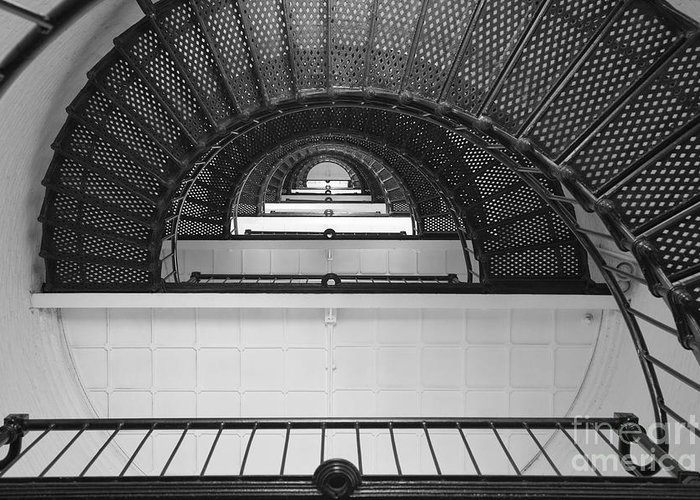 Clarence Holmes Greeting Card featuring the photograph St. Augustine Lighthouse Spiral Staircase IIi by Clarence Holmes