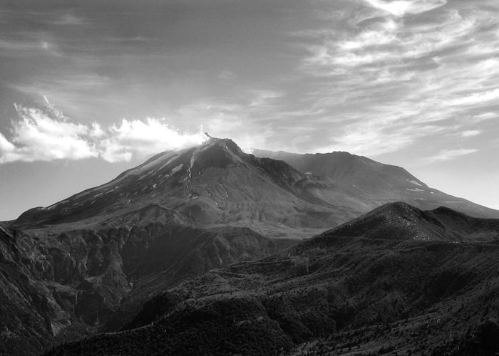 Landscape Greeting Card featuring the photograph St. Helens by Ty Nichols