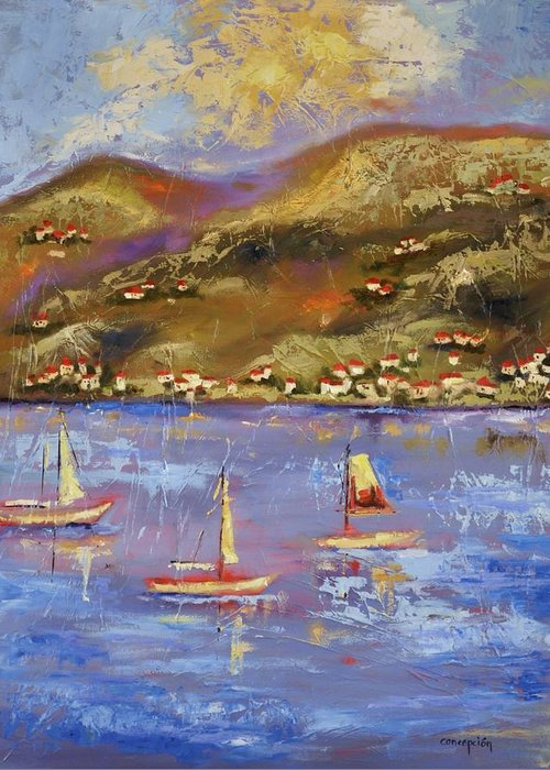St. John Greeting Card featuring the painting St. John USVI by Ginger Concepcion